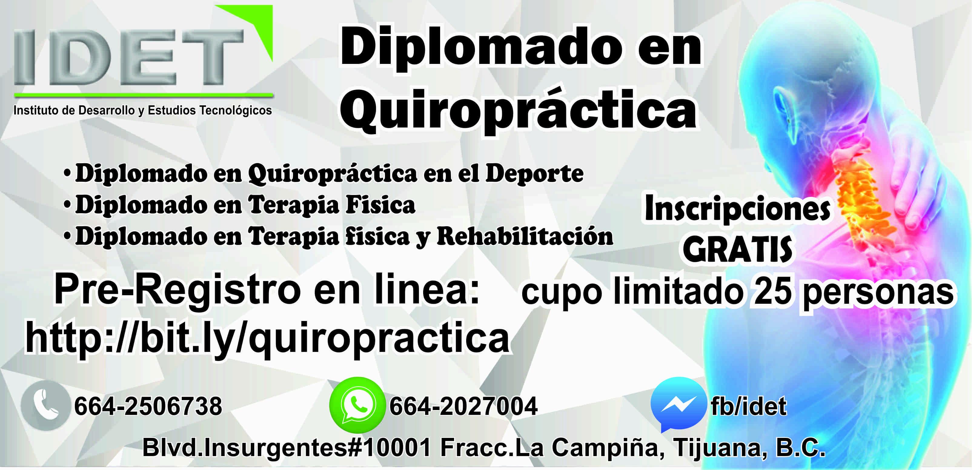 Diplomado En Quiropractica Idet